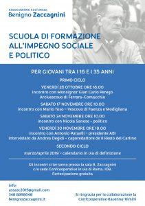 scuola formazione impegno sociale Benigno Zaccagnini