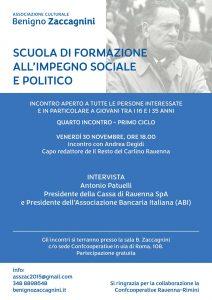 scuola impegno sociale Benigno Zaccagnini_intervista Antonio Patuelli